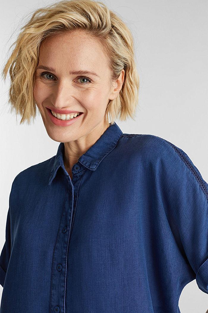 Blended lyocell: TENCEL™ blouse top