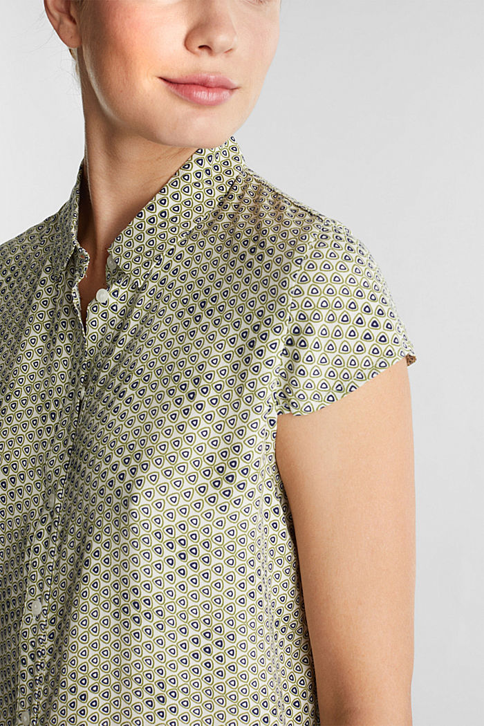 Blouse top made of LENZING™ ECOVERO™, OFF WHITE, detail image number 2