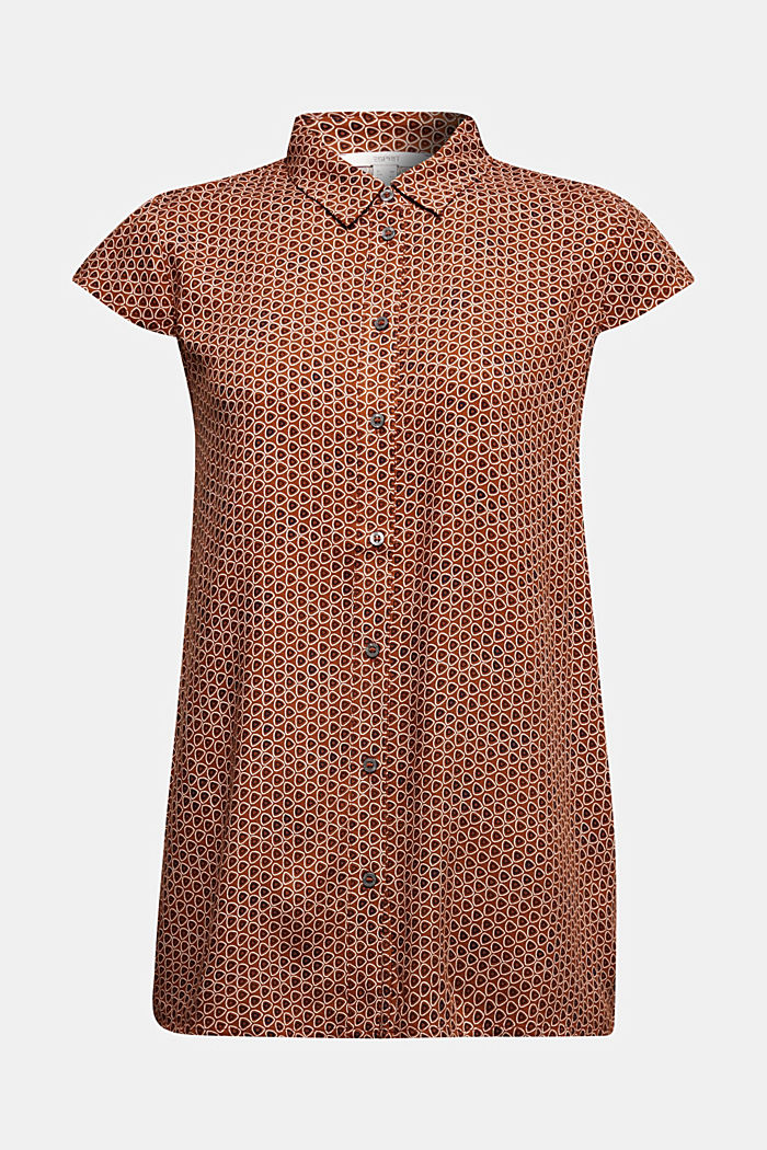 Blouse top made of LENZING™ ECOVERO™, RUST BROWN, detail image number 5