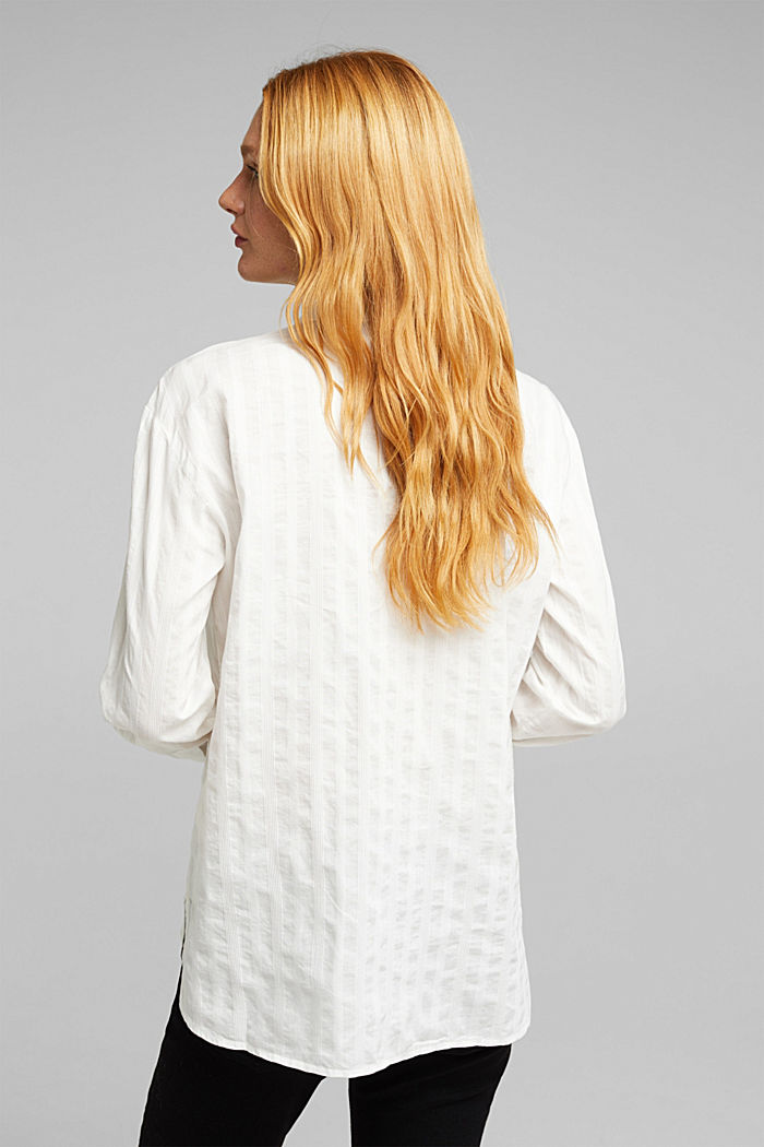 Blouse made of 100% organic cotton, OFF WHITE, detail image number 3