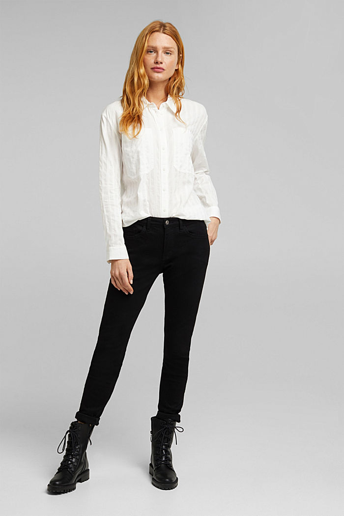 Blouse made of 100% organic cotton, OFF WHITE, detail image number 1