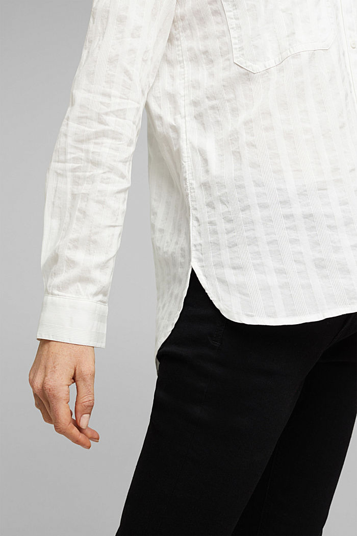 Bluse aus 100% Organic Cotton, OFF WHITE, detail image number 2