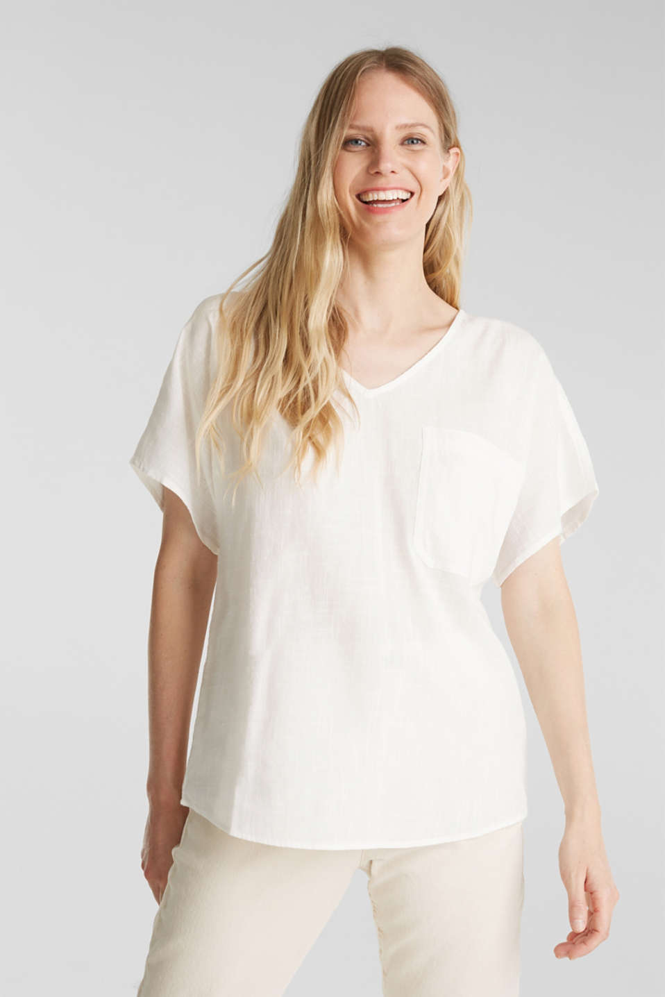 Esprit - Blouse top with organic cotton