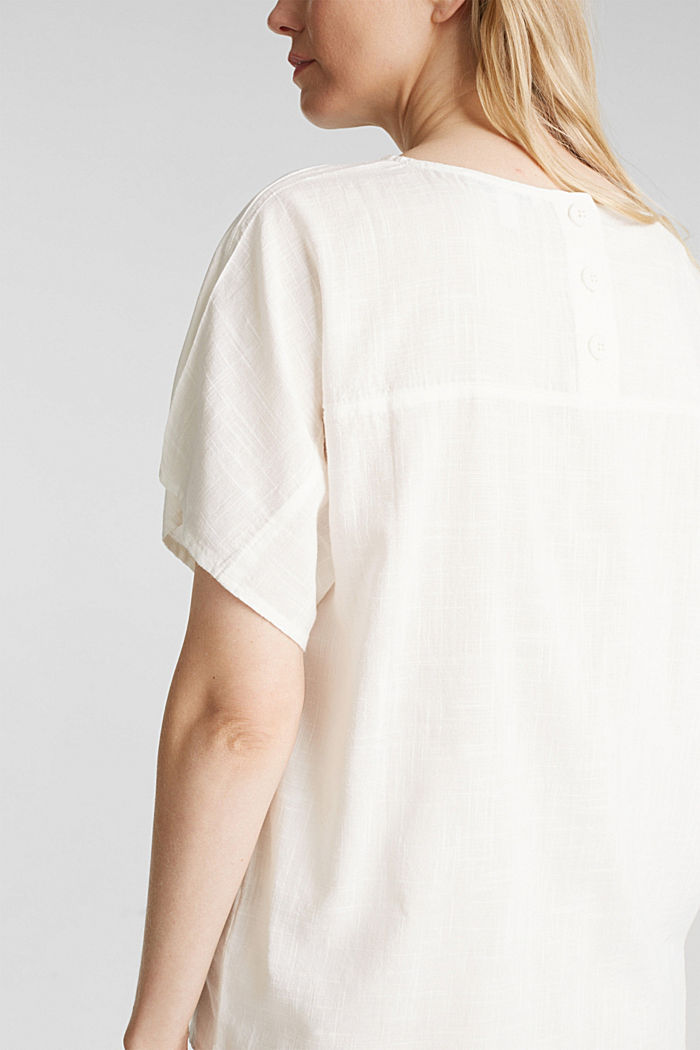 Blouse top with a V-neckline, OFF WHITE, detail image number 2