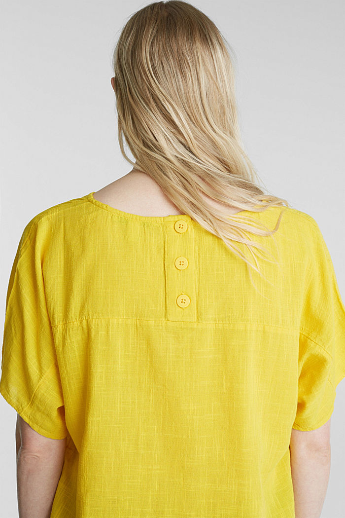 Blouse top with a V-neckline, YELLOW, detail image number 5