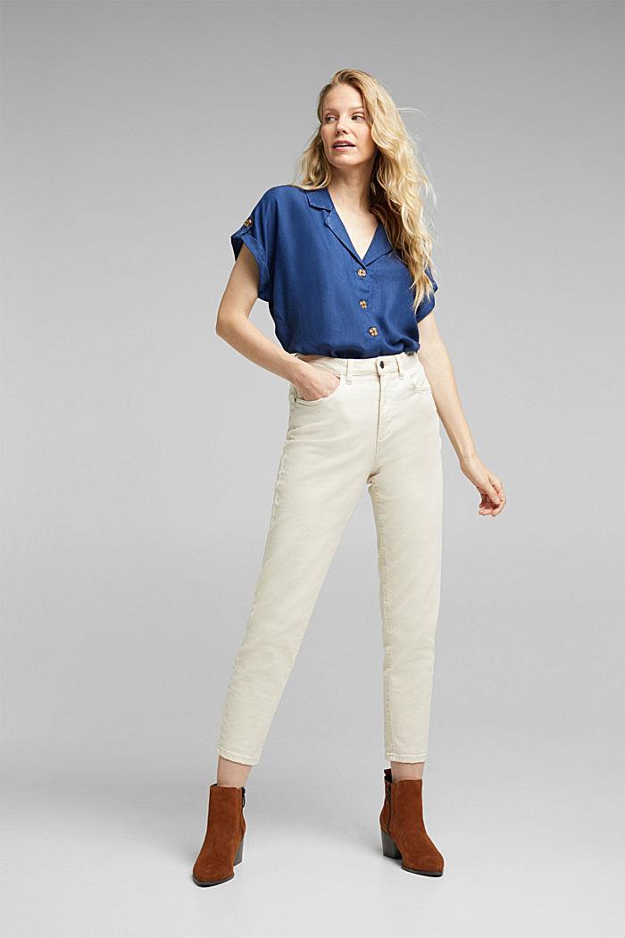 100% lyocell blouse, BLUE DARK WASHED, detail image number 1