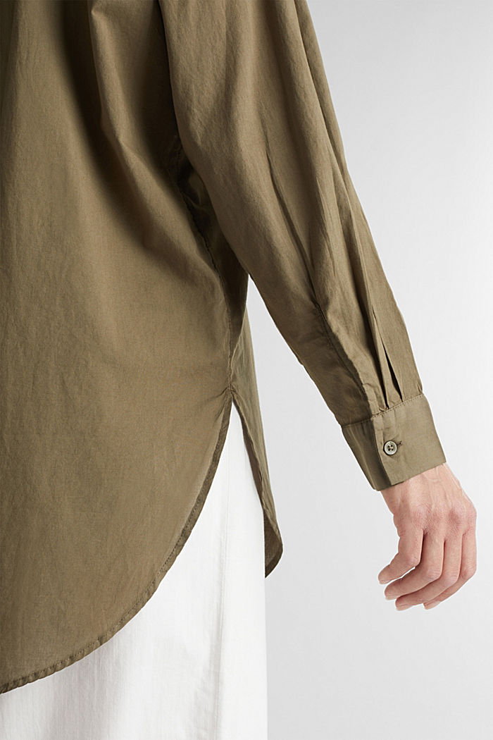 EarthColors® long blouse, organic cotton, OLIVE, detail image number 2