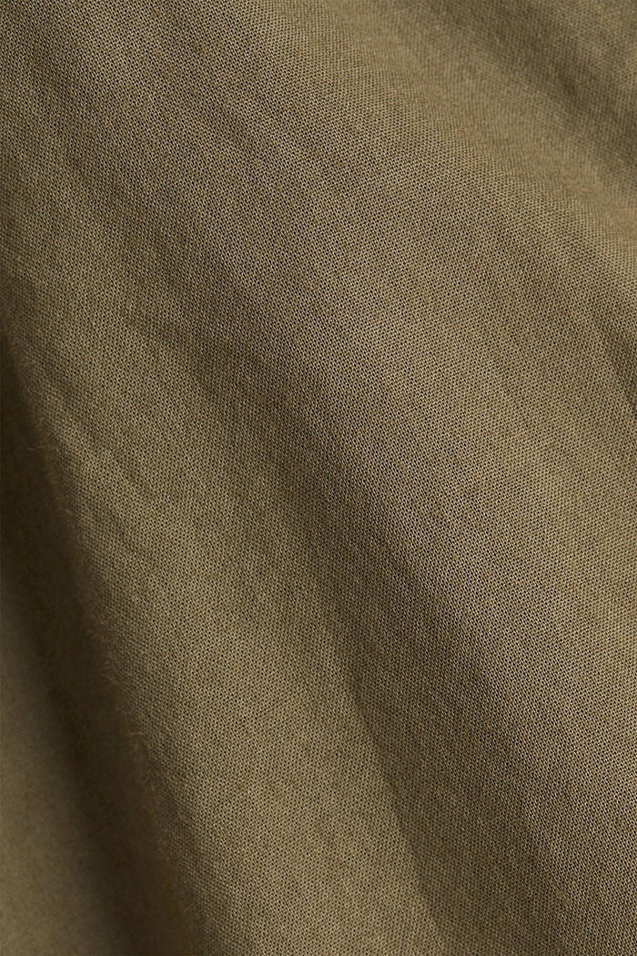 EarthColors® long blouse, organic cotton, OLIVE, detail image number 4
