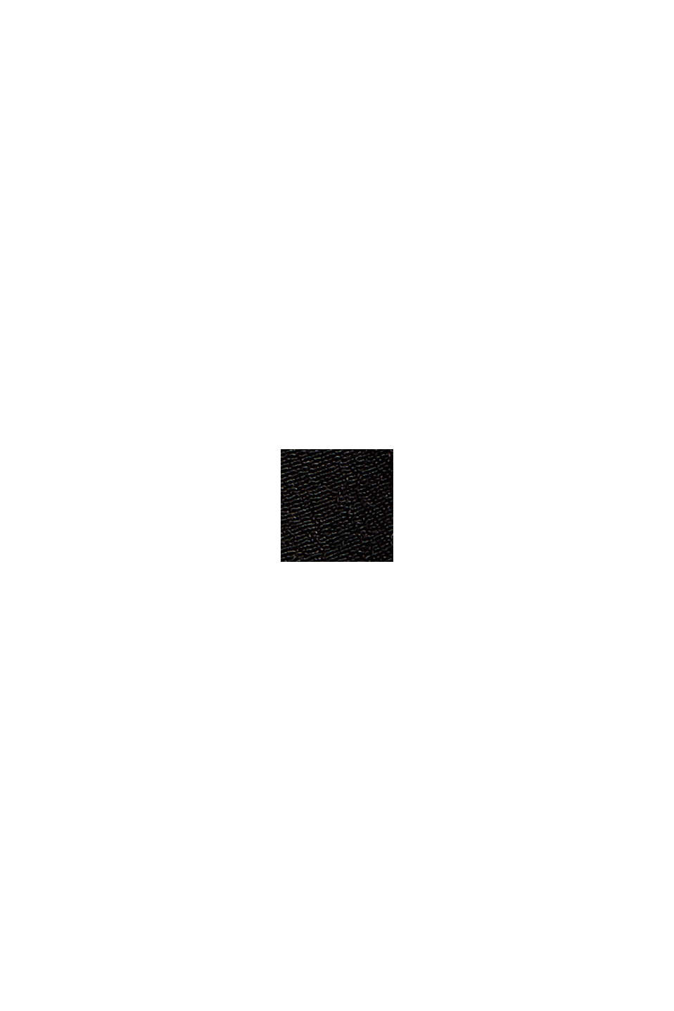 Blusa ampia con maniche a 3/4, BLACK, swatch