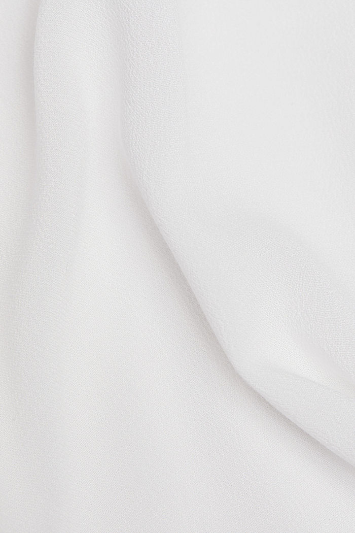 Crêpe blouse containing LENZING™ ECOVERO™, OFF WHITE, detail image number 4