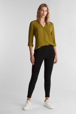 Henley blouse made of LENZING™ ECOVERO™, OLIVE, detail