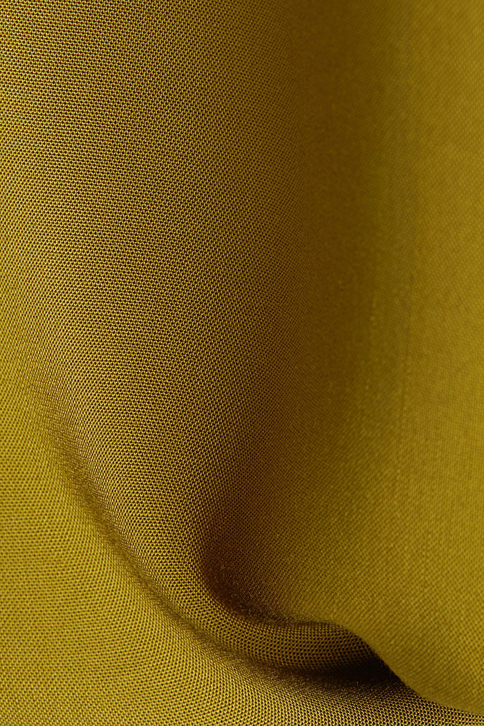 Henley blouse made of LENZING™ ECOVERO™, OLIVE, detail image number 4