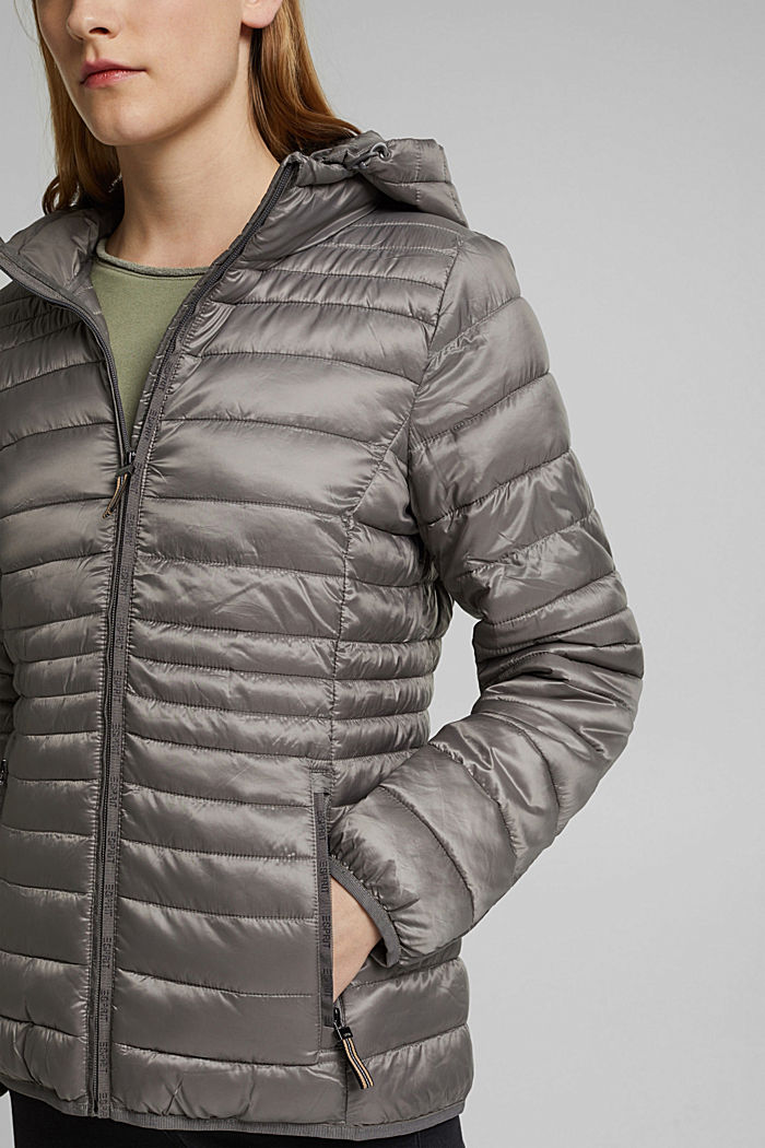 Quilted jacket with 3M™ Thinsulate™ padding, LIGHT GUNMETAL, detail image number 2