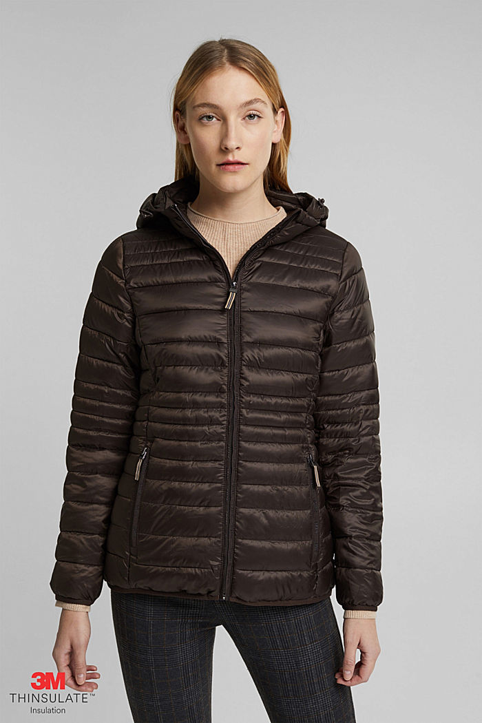 Quilted jacket with 3M™ Thinsulate™ padding, DARK BROWN, detail image number 0