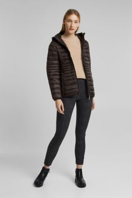 Quilted jacket with 3M™ Thinsulate™ padding, DARK BROWN, detail
