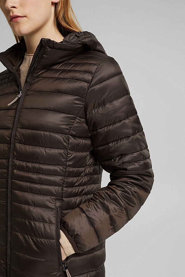 Quilted jacket with 3M™ Thinsulate™ padding, DARK BROWN, detail image number 2