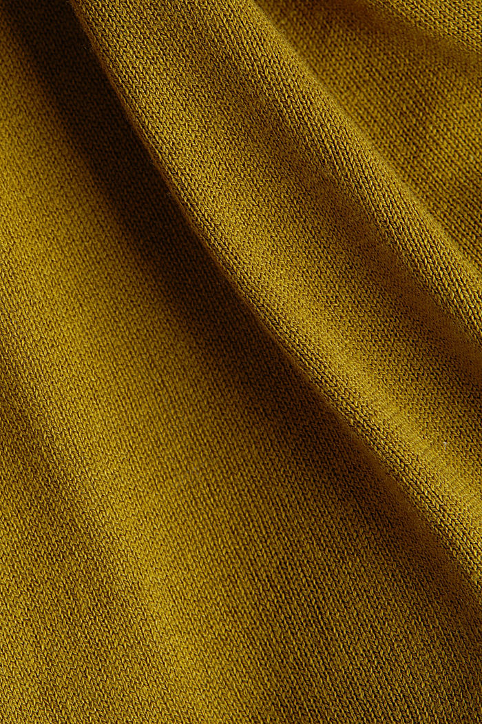 Linen blend: long, open-fronted cardigan, OLIVE, detail image number 4