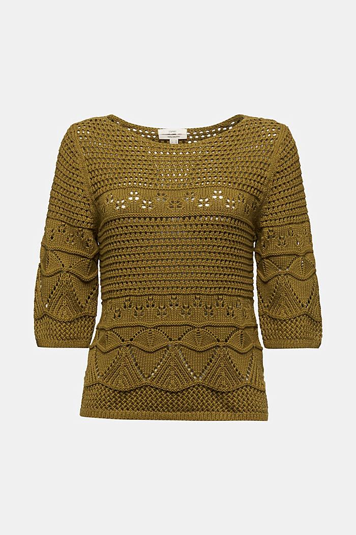 Pull-over en crochet, 100% coton biologique