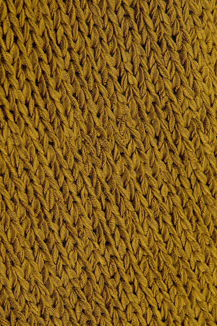 Sleeveless knitted top in ribbon yarn, OLIVE, detail image number 3
