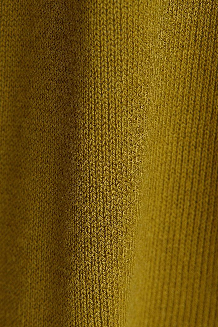 Mit Leinen: Cardigan aus Feinstrick, OLIVE, detail image number 4