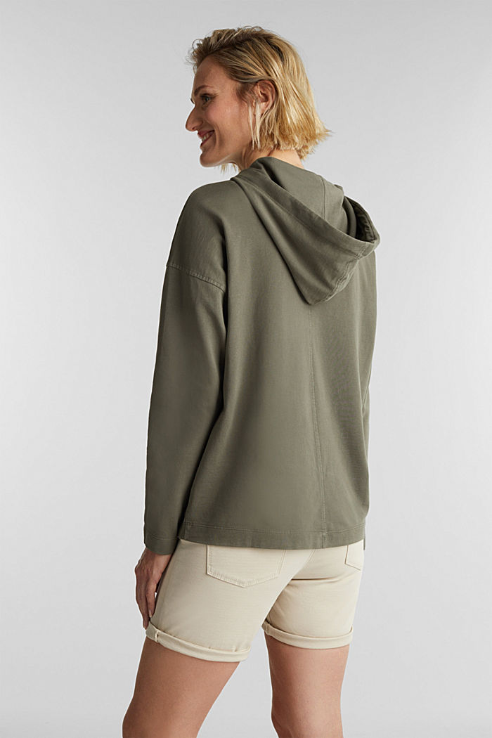 EarthColors® sweatshirt, organic cotton, OLIVE, detail image number 3