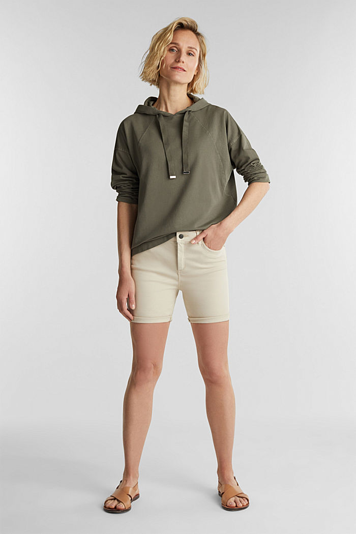 EarthColors® sweatshirt, organic cotton, OLIVE, detail image number 1
