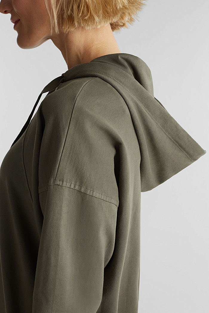 EarthColors® sweatshirt, organic cotton, OLIVE, detail image number 2