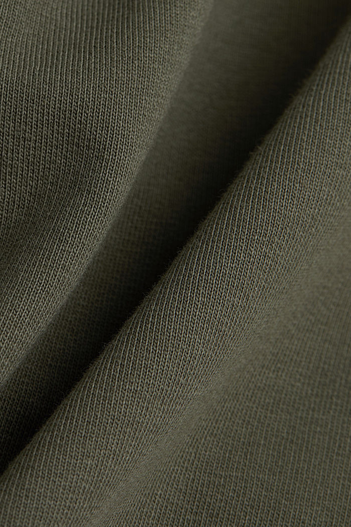 EarthColors® sweatshirt, organic cotton, OLIVE, detail image number 4