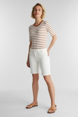 Striped top, 100% organic cotton, RUST BROWN 4, detail