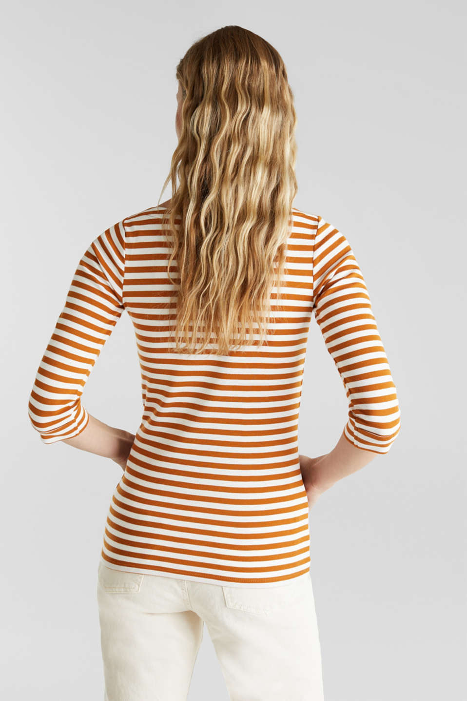 Top made of 100% organic cotton, RUST BROWN 4, detail image number 3