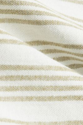 Organic cotton top with linen, OLIVE, detail