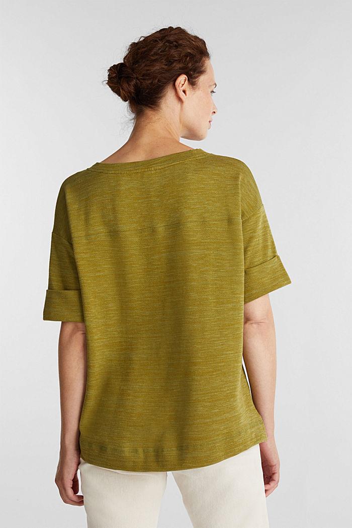 T-shirt made of melange sweatshirt fabric, OLIVE, detail image number 3