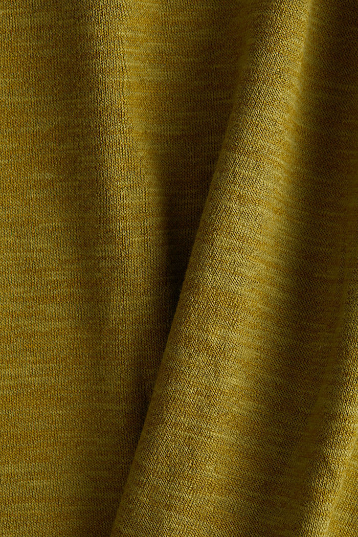 T-shirt made of melange sweatshirt fabric, OLIVE, detail image number 4
