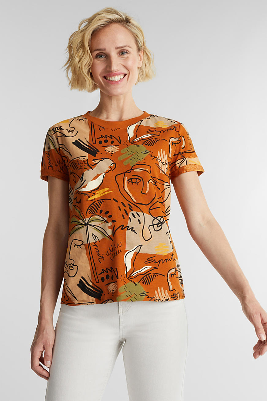 Print t-shirt with organic cotton