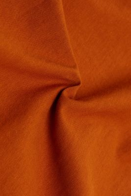 Sleeveless top made of 100% organic cotton, RUST BROWN, detail