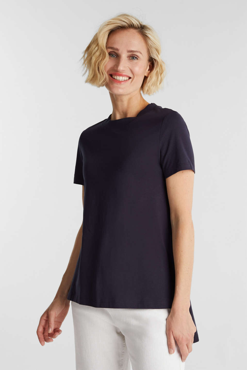 Esprit - Gerecycled:-shirt met organic cotton