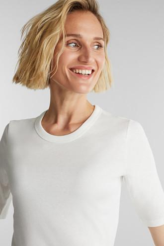Ribbed T-shirt made of 100% organic cotton