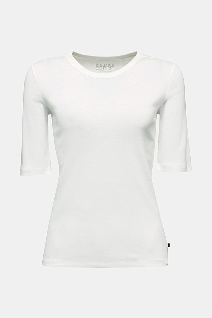 Ribbed T-shirt made of 100% organic cotton