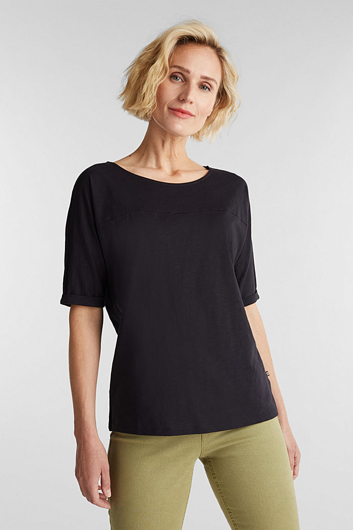 T-shirt 100 % coton biologique, BLACK, detail image number 0