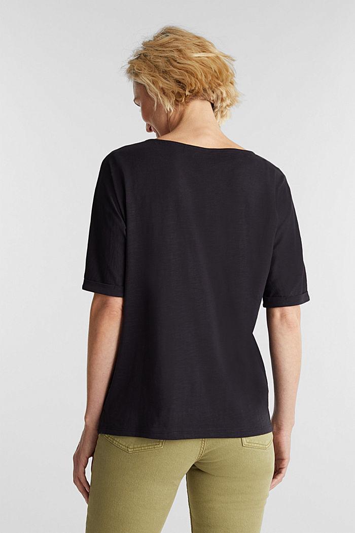 T-shirt 100 % coton biologique, BLACK, detail image number 3