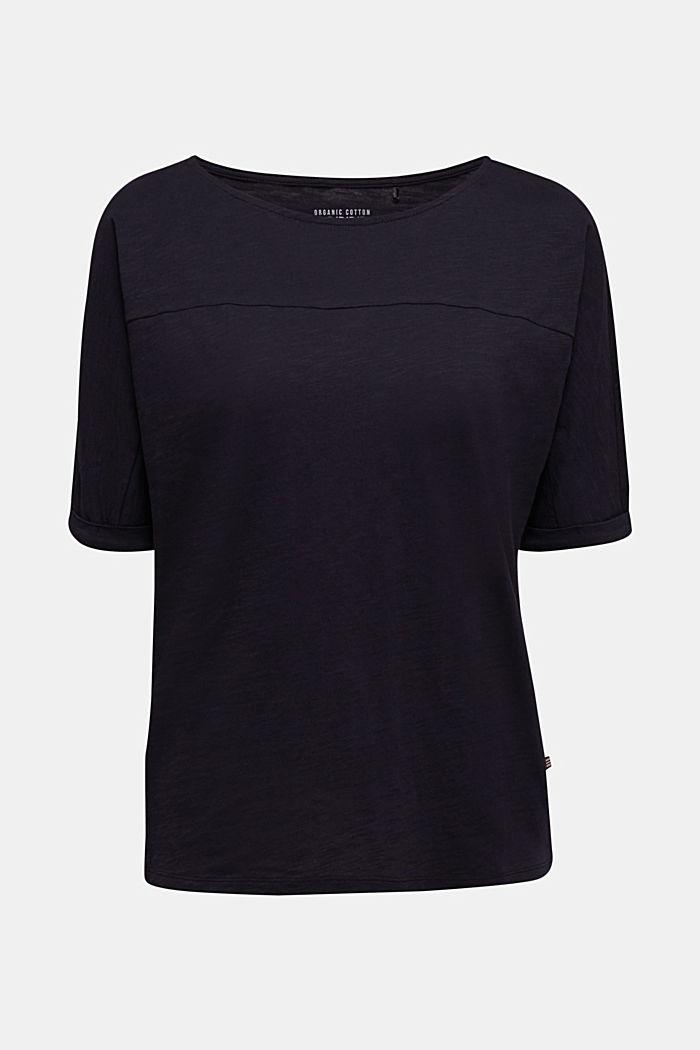 T-Shirt aus 100% Organic Cotton, BLACK, detail image number 6