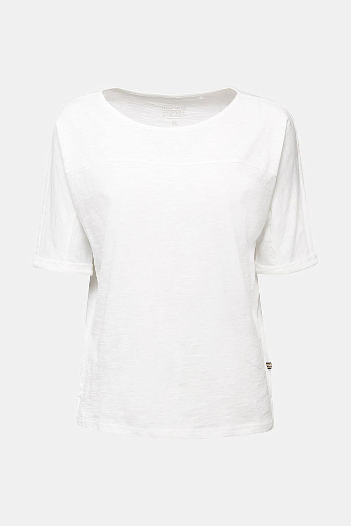 T-Shirt aus 100% Organic Cotton, OFF WHITE, overview