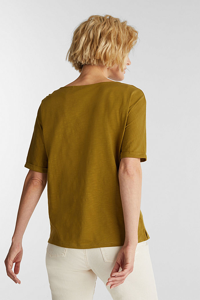 T-shirt made of 100% organic cotton, OLIVE, detail image number 3