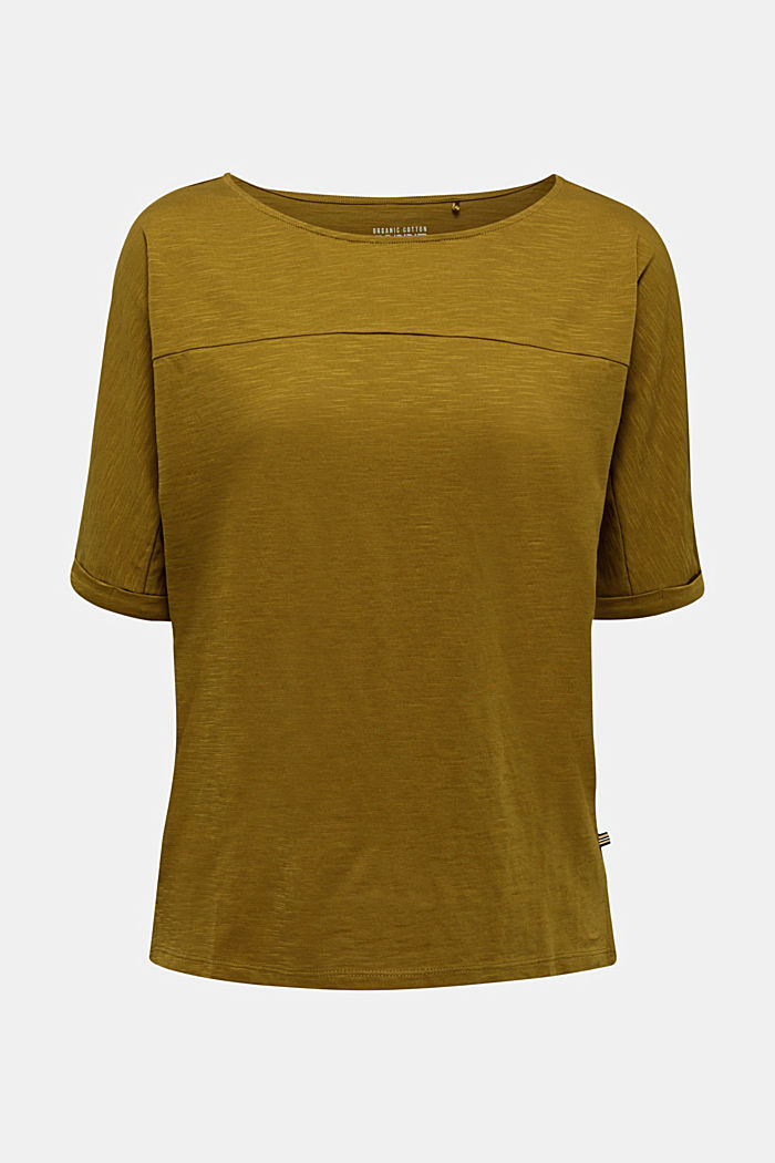 T-shirt made of 100% organic cotton, OLIVE, detail image number 7
