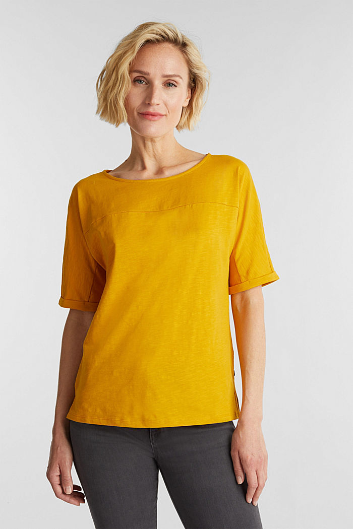 T-shirt made of 100% organic cotton, BRASS YELLOW, detail image number 0