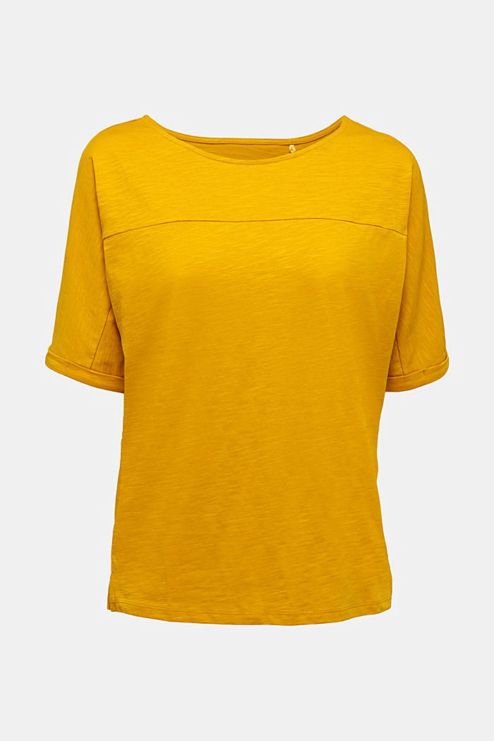 T-shirt made of 100% organic cotton, BRASS YELLOW, detail image number 5