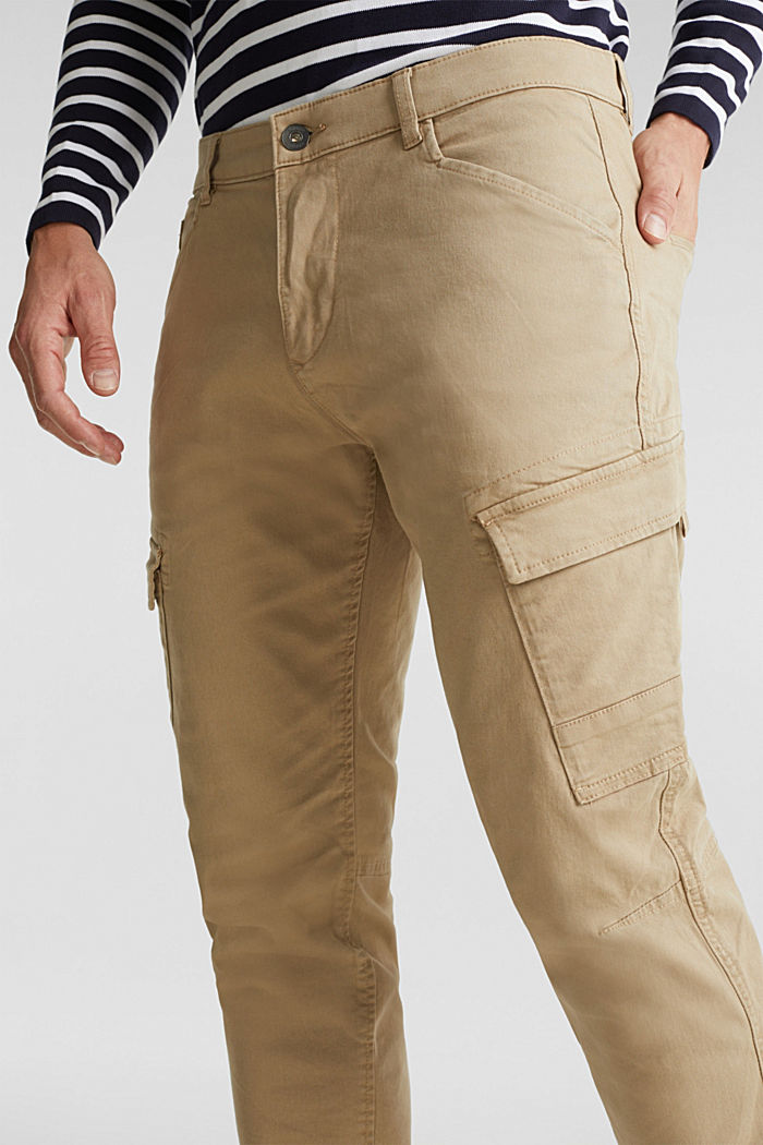 Cargo trousers in organic cotton, BEIGE, detail image number 2