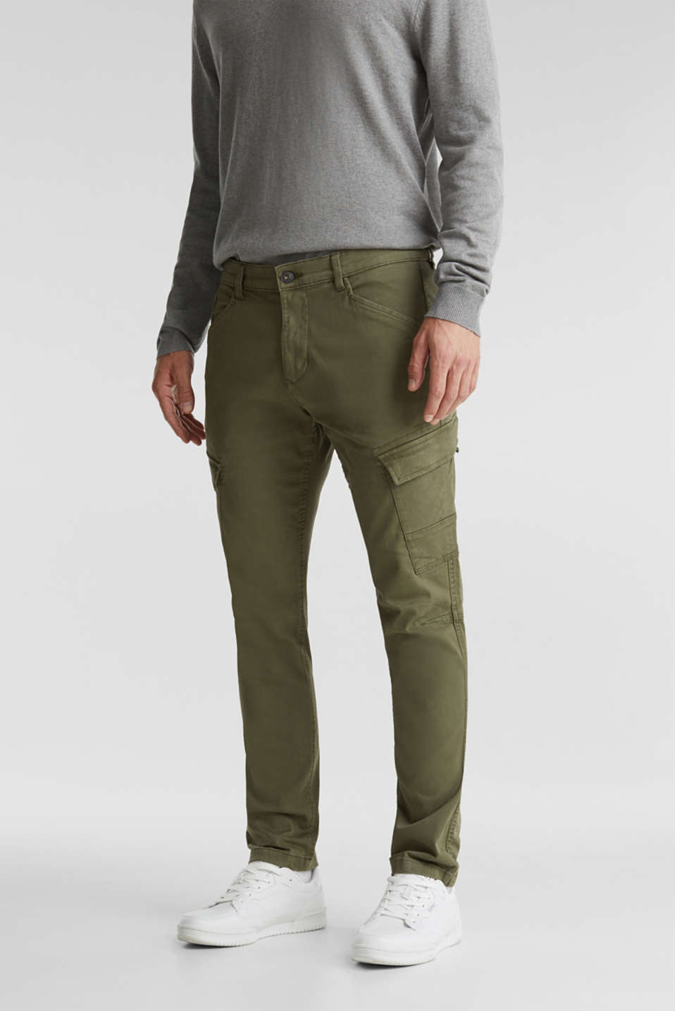 Esprit - Cargo trousers in organic cotton