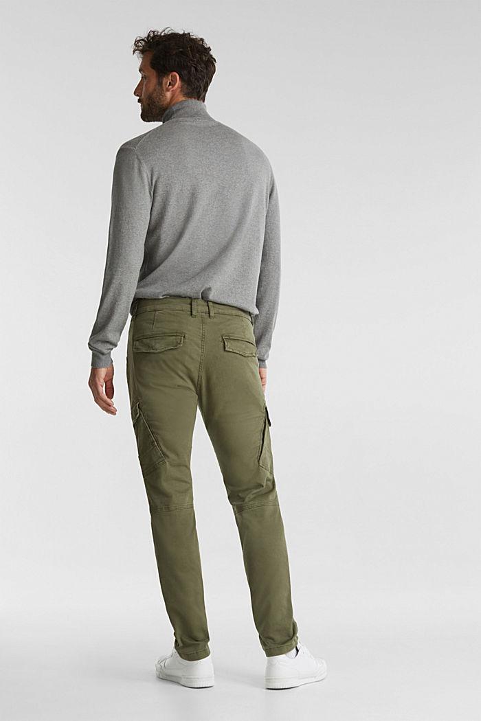 Spodnie bojówki z bawełny organicznej, KHAKI GREEN, detail image number 3