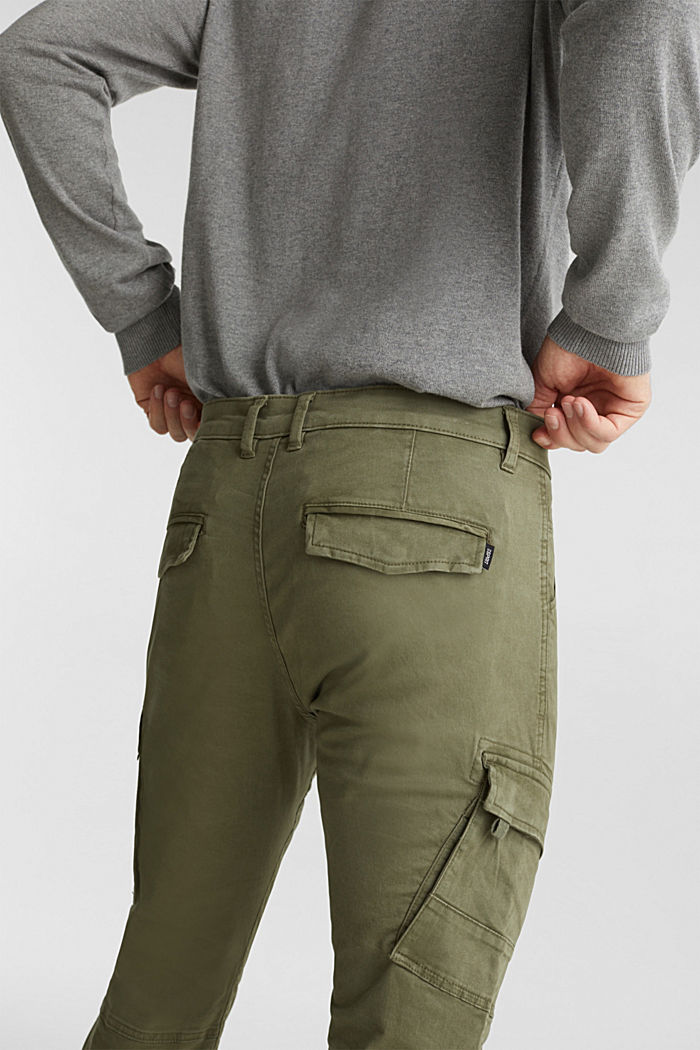 Cargo trousers in organic cotton, KHAKI GREEN, detail image number 2